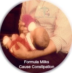 Cow Milk Allergy & Formula Milks Are Known To Cause Constipation.